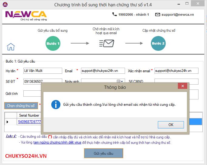 bổ sung thời hạn chữ ký số newtel-ca