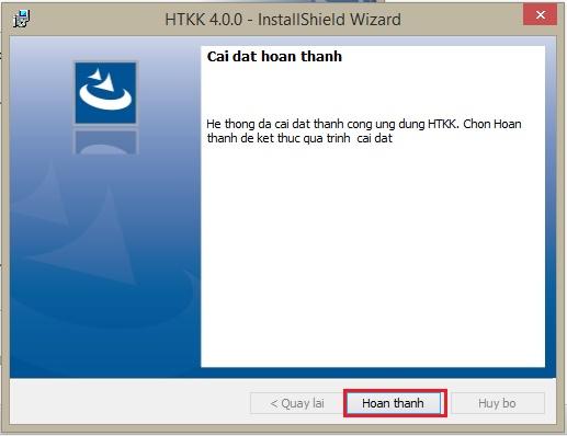 Hoàn thành cài đặt ứng dụng htkk 4.0