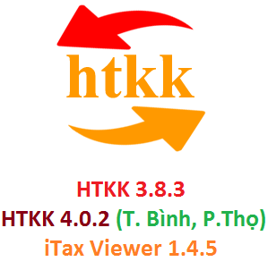 Thông báo nâng cấp HTKK 3.8.3, iTaxViewer 1.4.5, iHTKK 3.6.3, eTax 1.4.3
