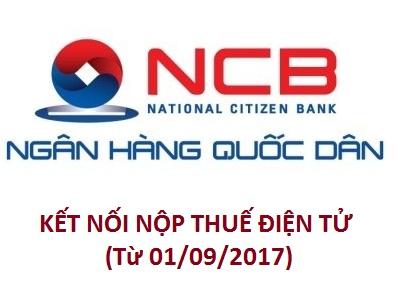 Mẫu đăng ký nộp thuế điện tử với Ngân hàng TMCP Quốc Dân (NCB)