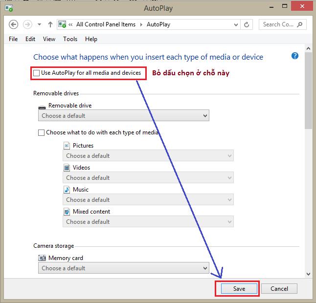 Hướng dẫn cách tắt (disable) AutoRun/AutoPlay trên windows 7