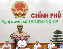 Nghị quyết số 19-2016/NQ-CP của Chính phủ nước cộng hòa XHCN Việt Nam