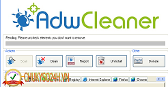AdwCleaner - Xplode - Tiện ích xóa toolbar rác