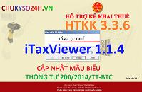 Nội dung nâng cấp ứng dụng HTKK 3.3.6, iHTKK 3.1.7, iTaxViewer 1.1.4 đáp ứng thông tư 200/2014/TT-BTC