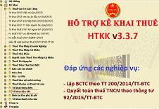 Thông báo nâng cấp phần mềm HTKK 3.3.7, iHTKK 3.1.8 và QTTNCN 3.2.4 đáp ứng yêu cầu quyết toán thuế 2015