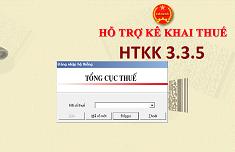 Tổng cục thuế thông báo về việc Nâng cấp ứng dụng Hỗ trợ kê khai tờ khai mã vạch (HTKK) phiên bản 3.3.5