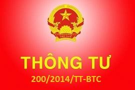 Giới thiệu thông tư số 200/2014/TT-BTC