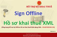 Ứng dụng ký Offline hồ sơ khai thuế định dạng XML